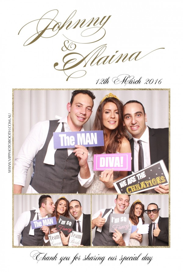 Alaina & Johnny wedding VIP photo booth Melbourne