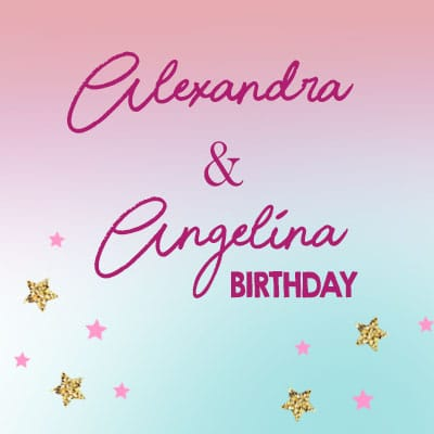 alexandra and angelina birthday photo booth