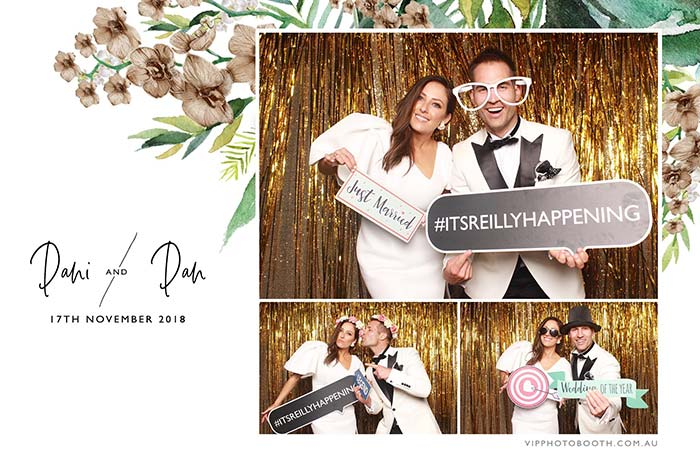 VIP Photo Booth image of Dani and Dan's photo booth photo from their wedding