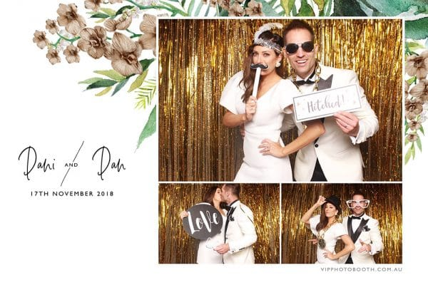 VIP Photo Booth - THE BLOCK - Dani & Dan wedding print design